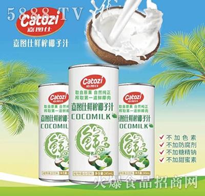 嘉图仕鲜榨椰子汁245ml