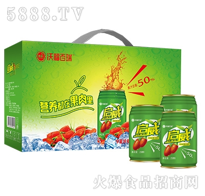 沃福百瑞启威枸杞鲜果汁饮料250ml产品图