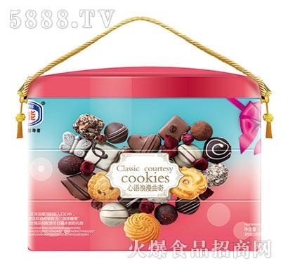 盖能心语浪漫曲奇饼干礼盒