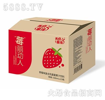 天府果缘草莓味复合乳酸菌果汁饮料500ml×15瓶产品图