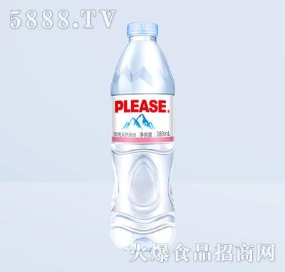 普利思饮用天然泉水380mL产品图