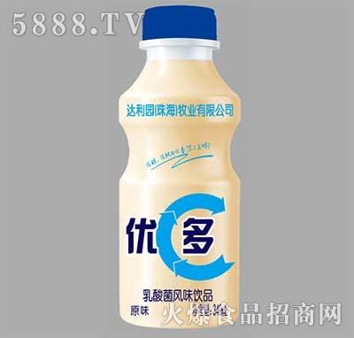 达利园优多乳酸菌风味饮品原味340ml