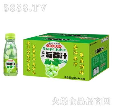 嘉泓甄果姿葡萄汁360mlX15