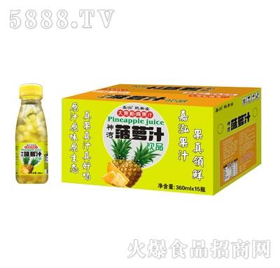 嘉泓甄果姿菠萝汁360mlX15