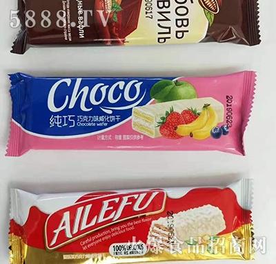 味香客纯巧巧克力威化饼干