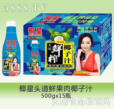 椰星头道鲜榨果肉椰子汁500gx15瓶