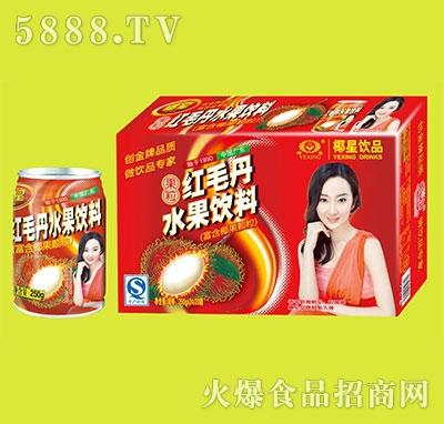椰星红毛丹水果饮料250g箱