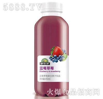 鲜彩多蓝莓草莓复合果汁450ml