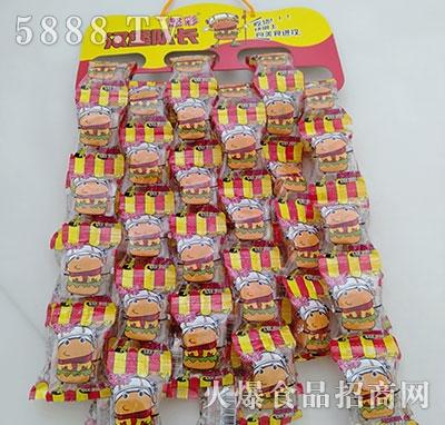 超彩汉堡队长糖果竖定量袋装