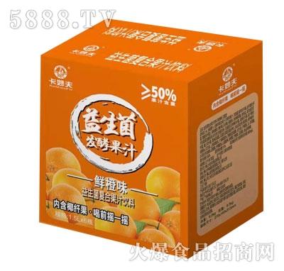 卡妙夫益生菌发酵果汁鲜橙味1.5LX6
