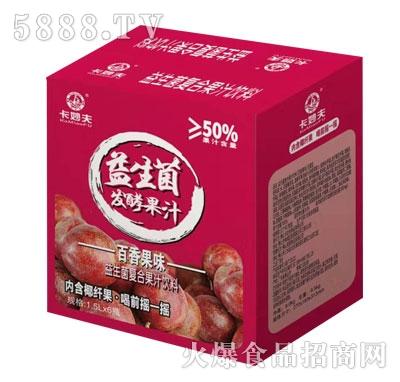 卡妙夫益生菌发酵果汁百香果味1.5LX6