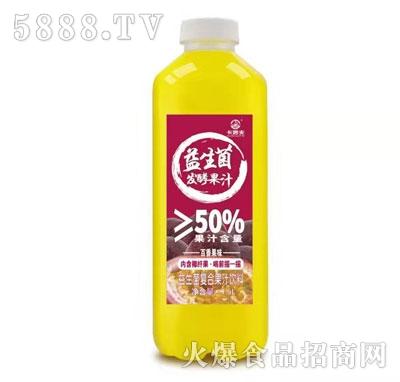 卡妙夫益生菌发酵果汁百香果味1.5L
