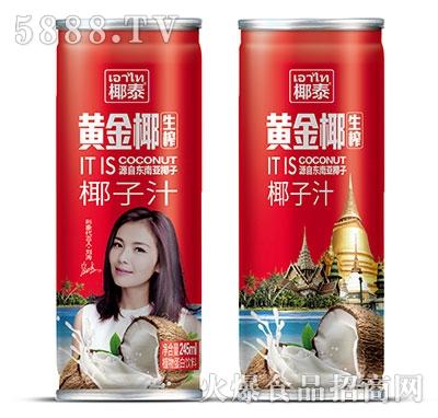 245ml椰泰黄金椰生榨椰子汁高罐