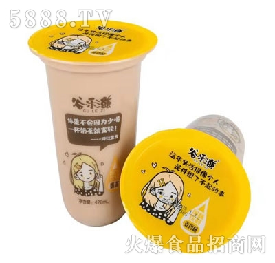 谷乐滋奶茶麦香味420ml