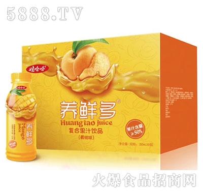 娃哈哈养鲜多50%复合黄桃汁350mlx8