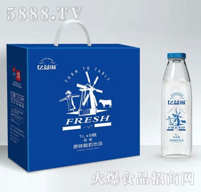 亿益滋原味酸奶1LX6