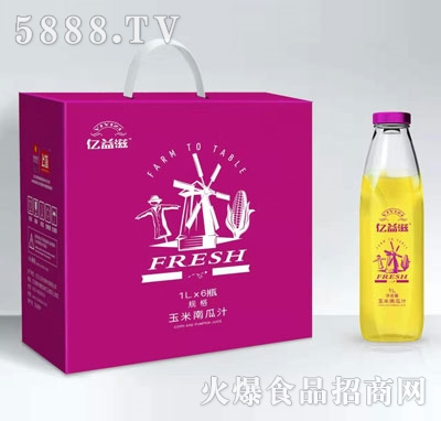 亿益滋玉米南瓜汁1LX6