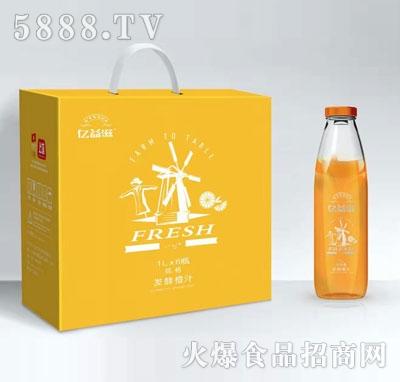 亿益滋发酵橙汁1LX6瓶