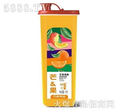 爱加壹芒果鲜橙果汁1.5L