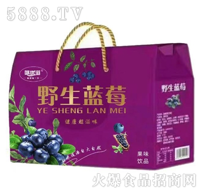 味优滋野生蓝莓蓝莓汁