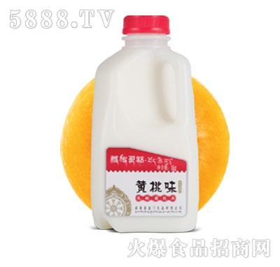 藏秘灵菇发酵型酸奶黄桃味1kg