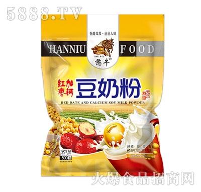 憨牛精装红枣加钙豆奶粉(无加蔗糖)500克产品图