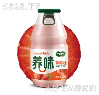 养味牛奶饮品草莓味220g