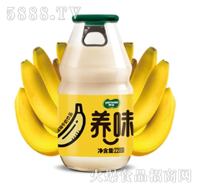 养味牛奶饮品香蕉味特渠专供220g