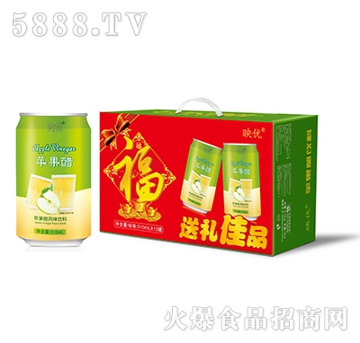 映优苹果醋风味饮品310mlx12罐