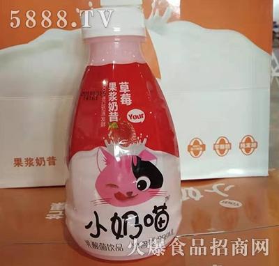 小奶喵乳酸菌果浆奶昔草莓味380ml