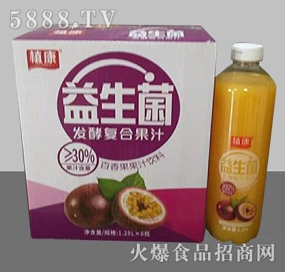 植康益生菌发酵百香果汁1.25Lx6