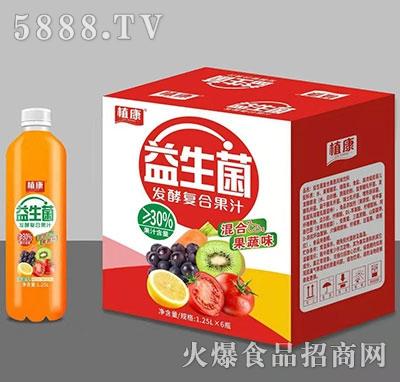 植康益生菌发酵果汁1.25Lx6