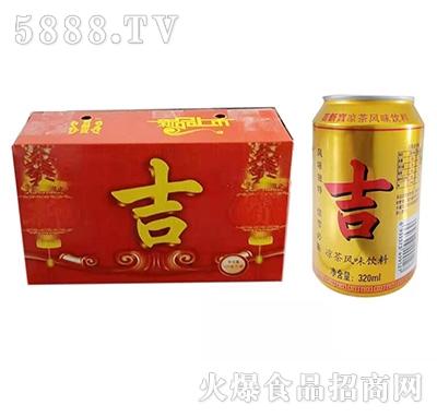吉新宝凉茶风味饮品320ml箱装