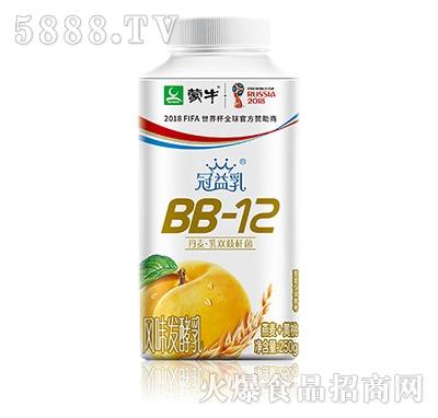 蒙牛冠益乳BB-12发酵乳燕麦黄桃口味
