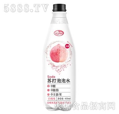天下水坊苏打泡泡水饮料白桃味450ml
