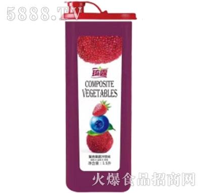 琦露杨梅+蓝莓+草莓复合果蔬汁饮料1.5L产品图