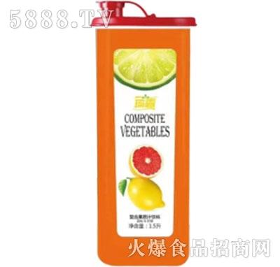 琦露西柚+柠檬复合果蔬汁饮料1.5Ljpg产品图