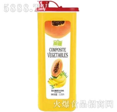 琦露木瓜+香蕉复合果蔬汁饮料1.5L产品图