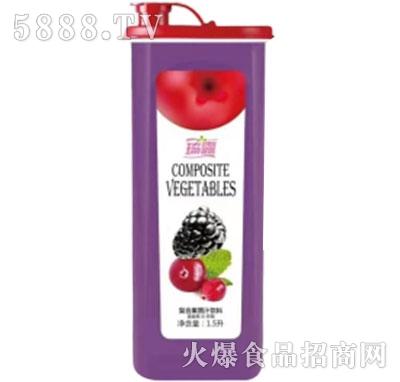 琦露蔓越莓+树莓复合果蔬汁饮料1.5升产品图