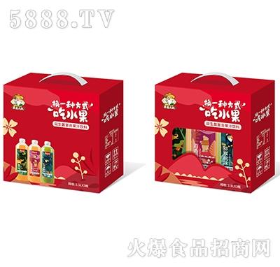 果园大叔益生菌复合果汁饮料1.5Lx3