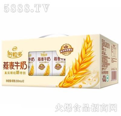 伊利谷粒多燕麦牛奶200mlx12盒
