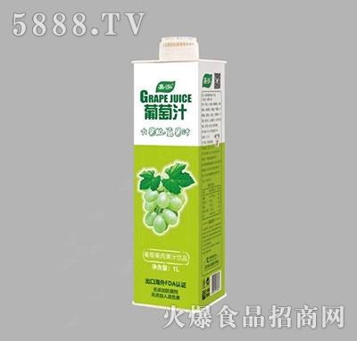 嘉泓葡萄果肉果汁饮品1L