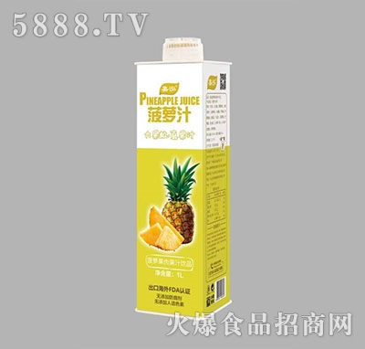 嘉泓菠萝果肉果汁饮品1L