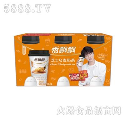 香飘飘芝士Q麦奶茶3连杯
