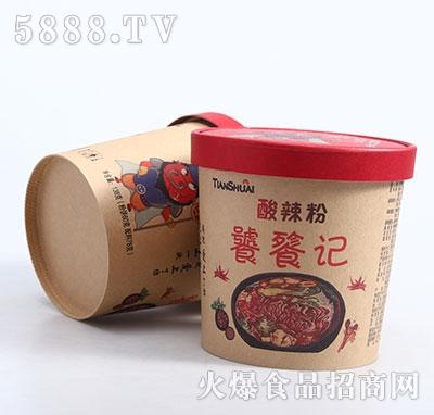 饕餮记酸辣粉桶装产品图