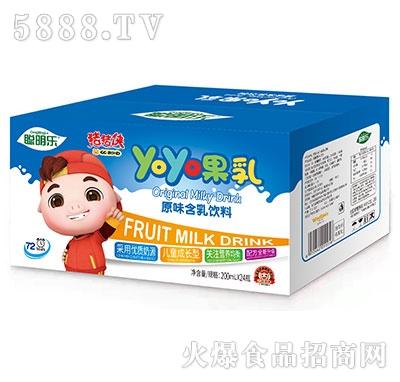 猪猪侠呦呦果乳饮品原味200mlx24瓶