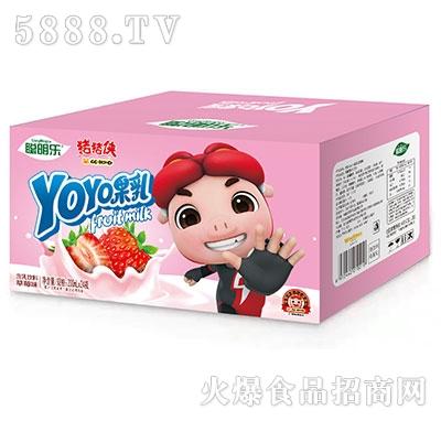 猪猪侠呦呦果乳饮品草莓味200mlx24瓶