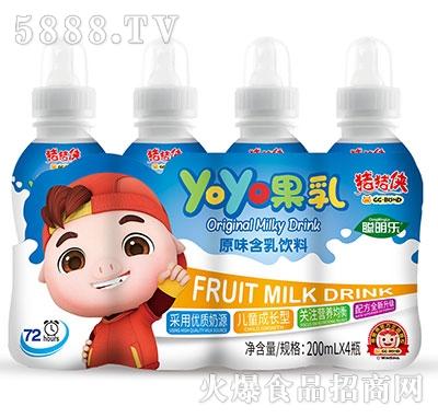 猪猪侠呦呦果乳饮品原味200mlx4瓶