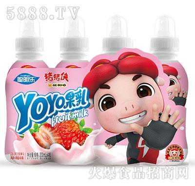 猪猪侠呦呦果乳饮品草莓味200mlx4瓶