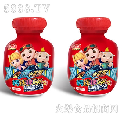 猪猪侠竞速小英雄乳酸菌草莓味200ml